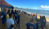 Projeto com 150 mergulhadores retira 1 tonelada de lixo da Baía de Todos os Santos