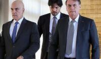 Antes de divulgar nota, Bolsonaro conversou com Alexandre de Moraes por telefone